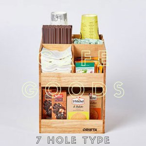 紙コップクリアカップ  ディスペンサー ウッドシリルディスペンサー7口用 Cuffy-W1026|bmt-store