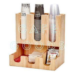 紙コップクリアカップ  ディスペンサー ウッドコーリー5口用 Cuffy-W954|bmt-store