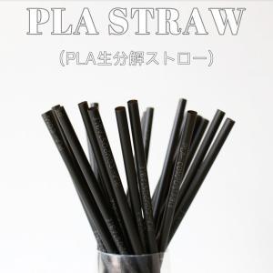 テイクアウト 生分解 PLAストロー エコストロー ブラック 5000本|bmt-store