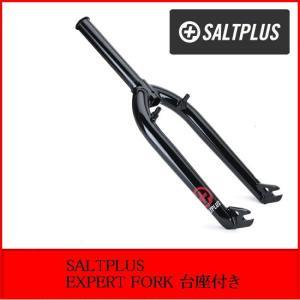 自転車 BMX 20インチ ストリート 台座付き SALTPLUS EXPERT FORK BLACK|bmx-source