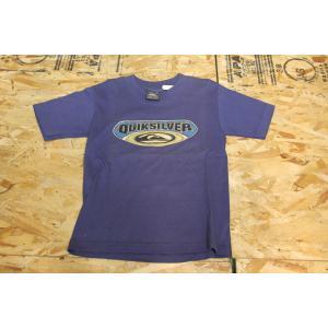輸入こども服 新品デットストック QUIKSILVER フロントプリントTシャツ ネイビー M|bmx-source