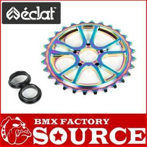 自転車 BMX スプロケット ECLAT  RS SPROCKET 25T BOLT DRIVE OILSLICK|bmx-source