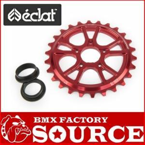 自転車 BMX スプロケット ECLAT RS SPROCKET 25T 26T BOLT DRIVE RED|bmx-source