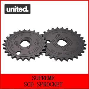 自転車 BMX スプロケット  UNITED  SUPREME SCD SPROCKET  25T  BLACK|bmx-source