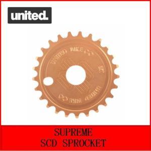 自転車 BMX スプロケット UNITED  SUPREME SCD SPROCKET  25T  COPPER|bmx-source