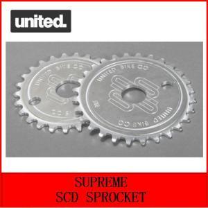 自転車 BMX スプロケット UNITED  SUPREME SCD SPROCKET  25T  RAW|bmx-source