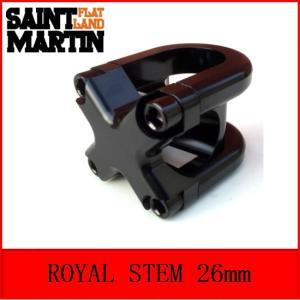 【BMX FLAT STEM】ST MARTIN / ROYAL STEM / 26mm / BLACK|bmx-source