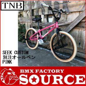 自転車 BMX FLATLAND 20インチ  TNB  SEEK CUSTOM  PINK  別注オールペイントカスタムバイク|bmx-source