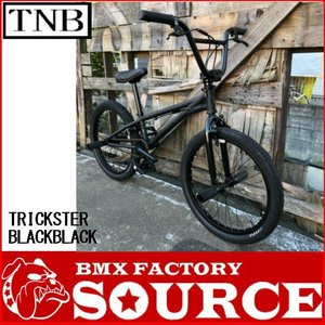 自転車 BMX FLATLAND 20インチ  TNB TRICKSTER MATT BKBK|bmx-source