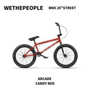 4月入荷予定 自転車 BMX 20インチ ストリート WETHEPEOPLE 2021 ARCADE CANDY RED|bmx-source