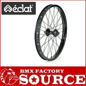 ECLAT / POLAR STRAIGHT FRONT WHEEL / BLACK|bmx-source