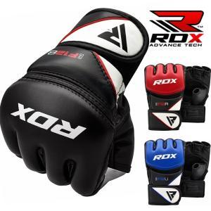 RDX オープンフィンガーグローブ 格闘技 MMA グローブ F12 キック ボクシング トレーニング 総合格闘技 黒 青 赤