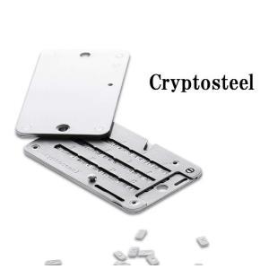 Cryptosteelは、文字をただ記録するだけの原始的な石版ツールです。 文字盤は、一つ一つ精巧な...