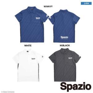 商品番号 tp-0532 スパッツィオ/spazio ダイアゴナルストライプエンボスポロシャツ  素...