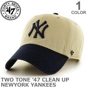 47BRAND/47ブランド B-RGWTT17GWSNL CLEAN UP CAP カジュアル メンズ レディース ニューヨークヤンキース 帽子 キャップ ブリムキャップ 47brand|bobsstore