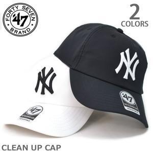 47BRAND/47ブランド B-TRACK17LIV CLEAN UP CAP マジックテープ カジュアル ニューヨークヤンキース ホワイト ブラック 帽子 キャップ 47brand|bobsstore