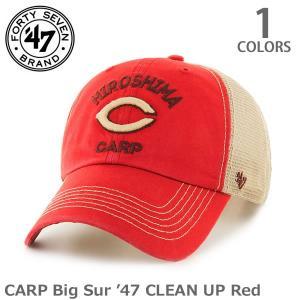 47BRAND/47ブランド Carp Big Sur'47 CLEAN UP RED メッシュ 47  レッド クリーンナップ  アジャスタブル 広|bobsstore