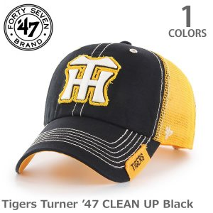 47BRAND/47ブランド Tigers ソリッドメッシュ 47 CLEAN UP ブラック クリーンナップ  アジャスタブル ヤクルトスワローズ|bobsstore