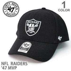 47BRAND/47ブランド K-MVP23WBV キャップ レイダーズ 帽子 RAIDERS オークランドレイダーズ カジュアル メンズ レディース ブラック 47brand マジックテープ|bobsstore