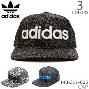アディダス adidas 143-311-005 ベースボールキャップ メンズ レディース ストリート 帽子 レオパード 総柄 ロゴ ブラック グレー|bobsstore