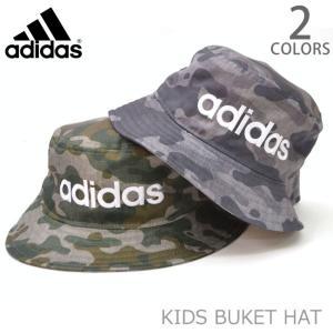 アディダス adidas 165-211-703 キッズ バケットハット KIDS ストリート 帽子 ロゴ CAMO ブラック ダークグリーン 子供|bobsstore