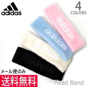 アディダス adidas 168-111 805 4color ヘッドバンド ヘアバンド ロゴ ブラック ホワイト ピンク ライトブルー スポーツ フ|bobsstore