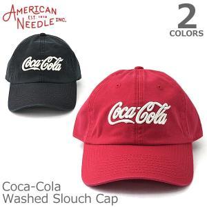 AMERICAN NEEDLE【アメリカンニードル】Coca-Cola Washed Slouch CAP キャップ 人気 アメカジ 帽子 メンズ レ|bobsstore