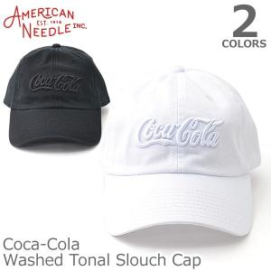 AMERICAN NEEDLE【アメリカンニードル】Coca-Cola Washed Tonal Slouch CAP キャップ 人気 アメカジ 帽子|bobsstore
