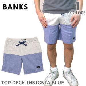 バンクス/BANKS WS0046 TOP DECK INSIGNIA BLUE パンツ ボトム ハーフパンツ 半パン シンプル プレゼント ギフト|bobsstore