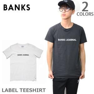シャツバンクス【BANKS】WTS0227 LABEL TEE(MENS) 半袖 Tシャツ ロゴ シンプル メンズ 人気|bobsstore