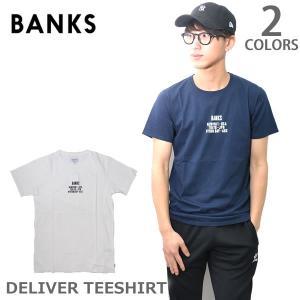 バンクス【BANKS】WTS0236 DELIVER TEESHIRT(MENS) 半袖 Tシャツ ヴィンテージ ロゴ メンズ ホワイト ネイビー 人気|bobsstore