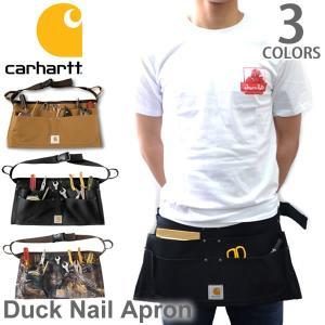 カーハート carhartt A09 DUCK NAIL APRON ダックネイルエプロンバッグ BLK/BRN/CAMO エプロン ポケット 大工|bobsstore