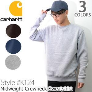 カーハート carhartt K124 メンズ トップス スウェット Midweight Crewneck Sweatshirt プルオーバー ヘザー|bobsstore