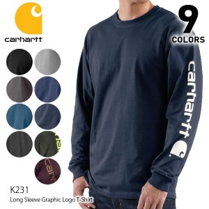 カーハート carhartt K231 メンズ トップス ロンT Long Sleeve Graphic Logo T-Shirt Tシャツ カットソー 【1点のみメール便可】|bobsstore