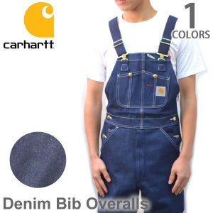 カーハート carhartt R08 DENIM BIB OVERALL デニム ビブオーバーオール オーバーオール サロペット ユニフォーム 大工|bobsstore