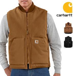 カーハート carhartt V01 ダック ワークベスト DUCK VEST メンズ トップス 作業着 ブラック ブラウン ジップベスト USサイズ|bobsstore