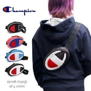 チャンピオン/Champion WAIST PACK ウエストバック ウエストポーチ ボディバッグ パイルロゴ サガラ刺繍 ブラック ライトブルー ダークグレー コーラル CH1056 bobsstore