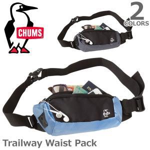 チャムス【CHUMS】Trailway Waist Pack 14023 / 14029 ポーチ ウエストポーチ バック シンプル 旅行 メンズ レディース ウエストパック 2Color|bobsstore