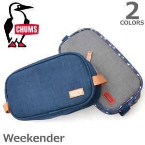 チャムス【CHUMS】Weekender 54163 / 54164 ポーチ ケース バック シンプル 持ち運び便利  メンズ レディース|bobsstore
