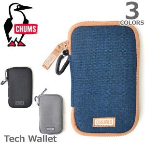 チャムス【CHUMS】Tech Wallet 54255 / 54256 / 54257 スマートフォン ポーチ キーケース 手帳型 カードケース ICカード 【ネコポス発送のみ送料無料】|bobsstore