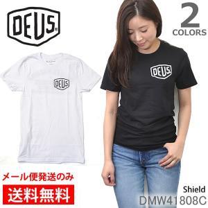 デウスエクスマキナ DEUS EX MACHINA SHIELD レディース 半袖 Tシャツ 無地 ベーシック バイカー  ティーシャツ ロゴTシャツ bobsstore