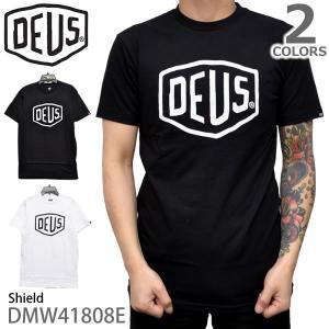 デウスエクスマキナ DEUS EX MACHINA SHIELD メンズ 半袖 Tシャツ 無地 ベーシック インポート シンプル ティーシャツ ロゴT bobsstore