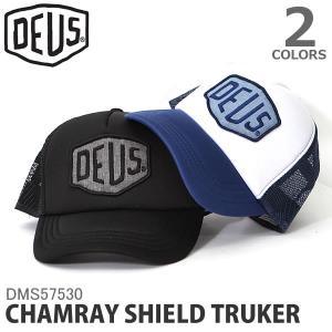 デウス【DEUS】DMS57530 CHAMRAY SHIELD TRUKER メッシュ キャップ スケボー スケート ボード ストリート 帽子 メン bobsstore