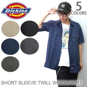 ディッキーズ【Dickies】SHORT SLEEVE TWILL WORK SHIRT 1574 ワークシャツ シャツ 作業服 US規格 半袖 メンズ ポケット付|bobsstore