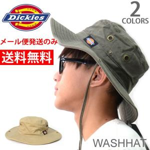 ディッキーズ【Dickies】ハット ロゴ シンプル  メンズ HAT 帽子 アウトドア バケット アドベンチャー ベージュ カーキ メール便のみ送料|bobsstore