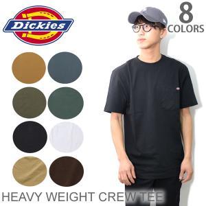 ディッキーズ【Dickies】HEAVY WEIGHT CREW TEE WS450 Tシャツ 半袖 全6color メンズ ポケット付|bobsstore