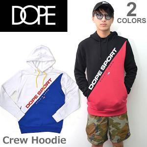 ドープ【DOPE】Crew Hoodie フード パーカー プルオーバー メンズ トップス D0117-J207 WHITE/BLUE BLACK/RED|bobsstore