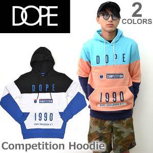 ドープ【DOPE】Competition Hoodie フード パーカー プルオーバー メンズ トップス D0117-J208 BLACK Teal|bobsstore