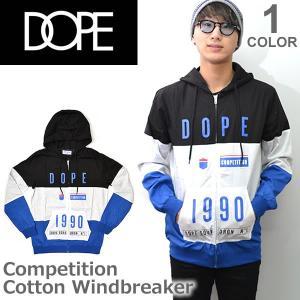 ドープ【DOPE】Competition Cotton Windbreaker アウター ジャケット ウィンドブレーカー メンズ D0117-J308 BLACK|bobsstore