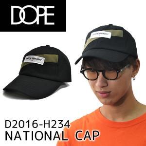 ドープ【DOPE】National Cap D0617-H234 キャップ 帽子 メンズ レディース ブラック/オリーブ ストラップバック 調整可能【メール便発送のみ送料無料】|bobsstore